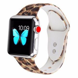 Leopard Print Silicone Apple Watch Band